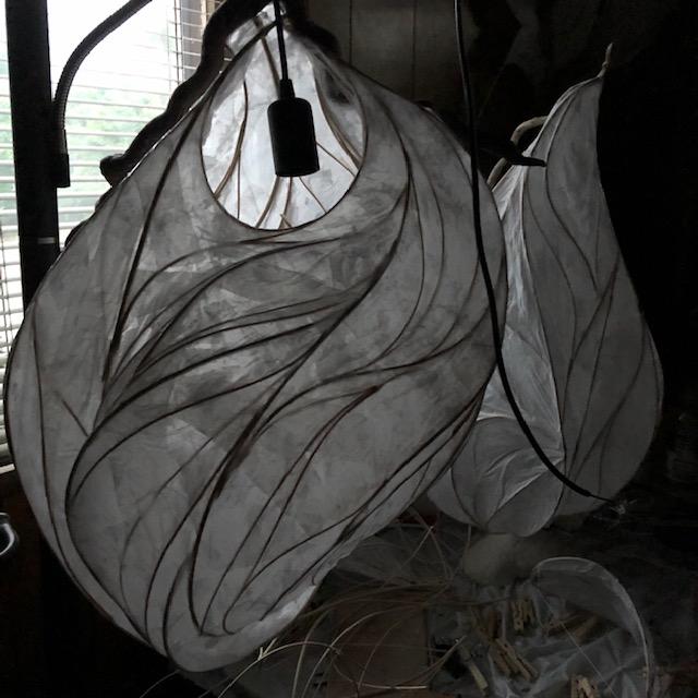 showing light sculptures in progress