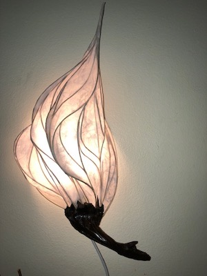 light sculpture by Kelley Buck Adams