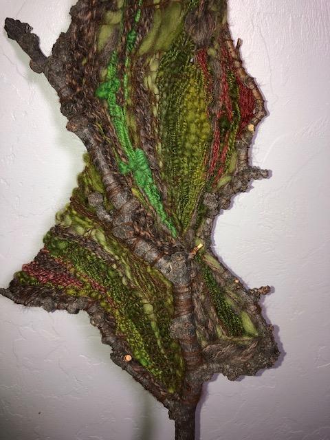 hand spun tapestry weaving