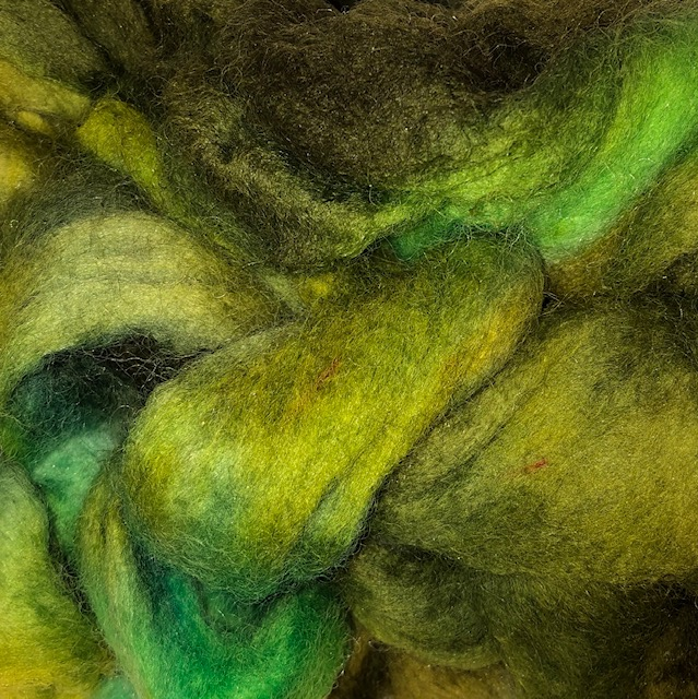 hand dyed wool roving
