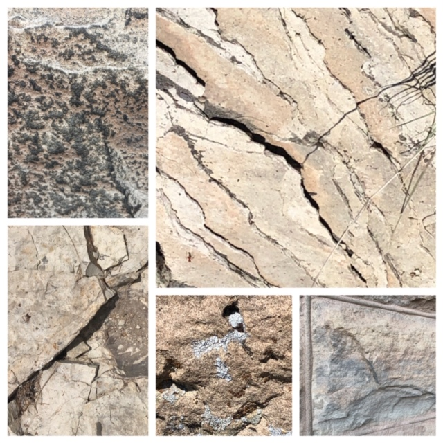rock surfaces to demonstrate texture