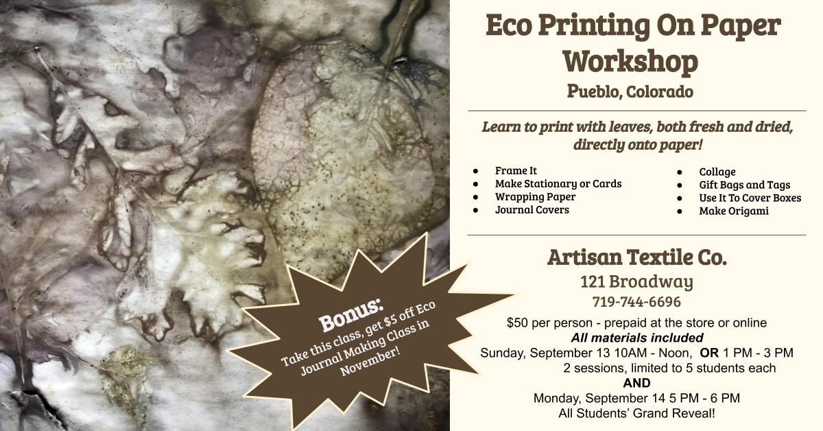 eco printing class announcement