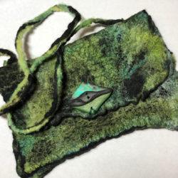 handmade nuno felt bag