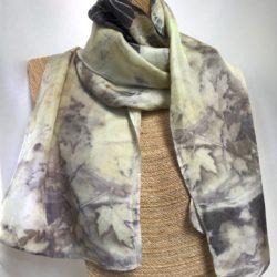 Maple eco print scarf